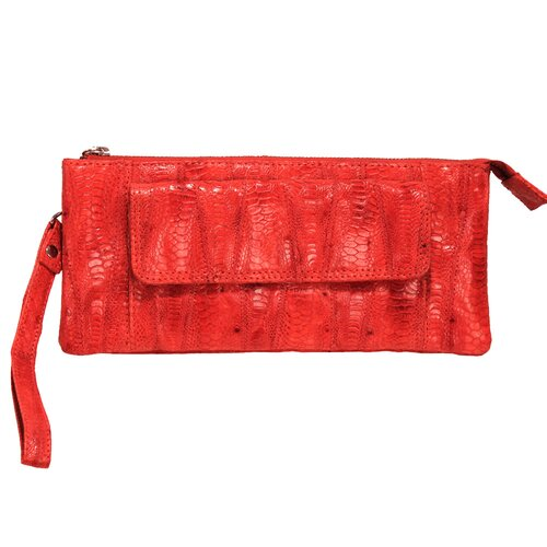 Millicent Amazonia Top Zip Clutch