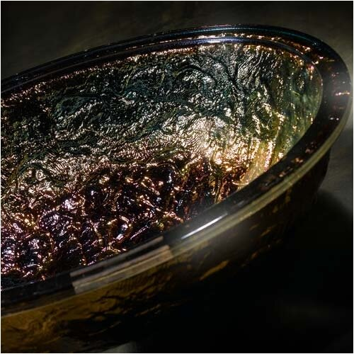 JSG Oceana Glass Vessel Bathroom Sink