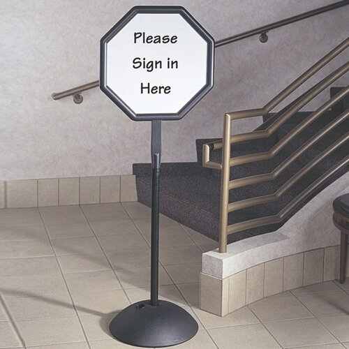 Safco Octagon Dry Erase Message Sign