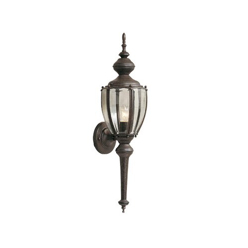 Designers Fountain Beveled Glass Outdoor Wall Sconce