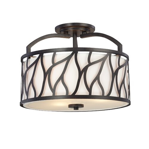 Designers Fountain Modesto 3 Light Semi-Flush Mount