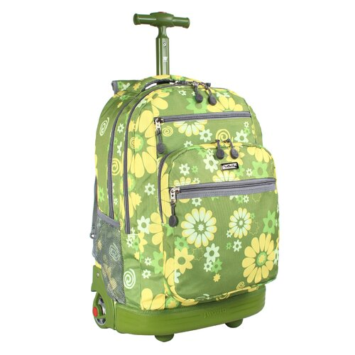 J World Sundance Flower Rolling Laptop Backpack