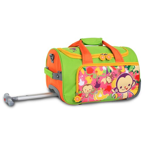 J World Monkey II Kids Rolling Duffel Bag