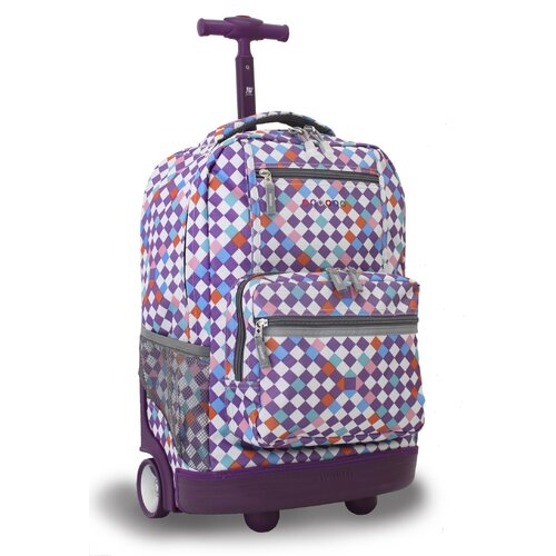 Sunset Multi Pocket Rolling Backpack