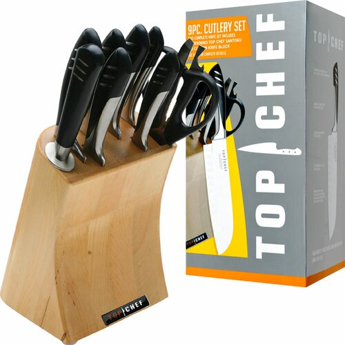 Top Chef 9 Piece Cutlery Block Set