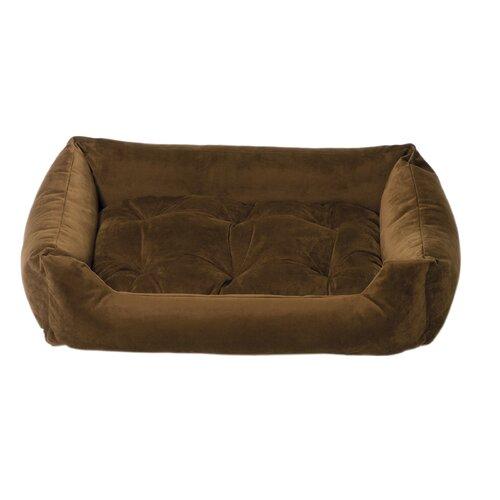 Plush Velour Nest Bolster Dog Bed