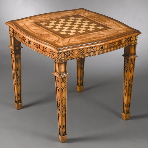 AA Importing Four Drawer Reversible Top Checkers and Backgammon Table
