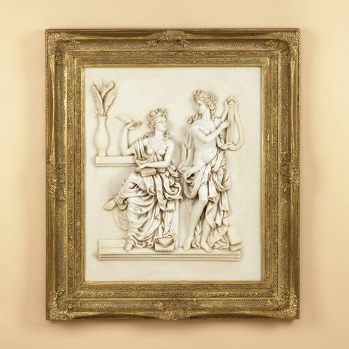 Relief Framed Painting Print