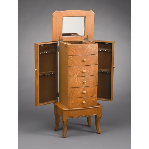 AA Importing 5 Drawer Jewelry Armoire with Mirror