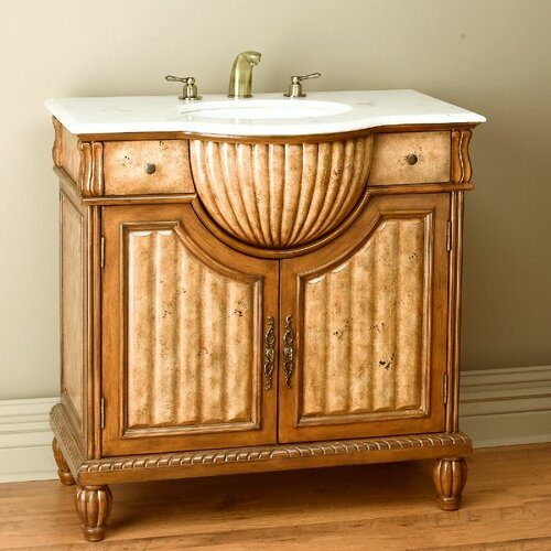 "AA Importing 36"" Ornate Vanity Set"