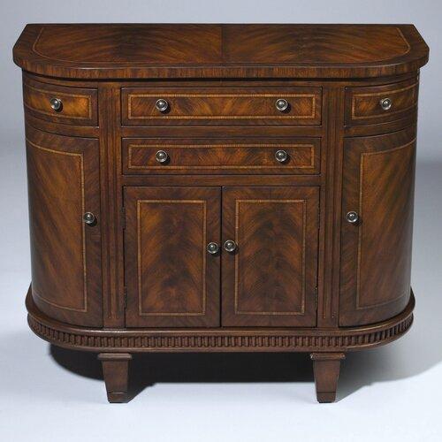 4 Drawer Half Round Cabinet
