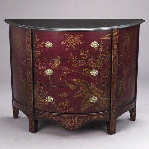 3 Drawer Half Round Cabinet