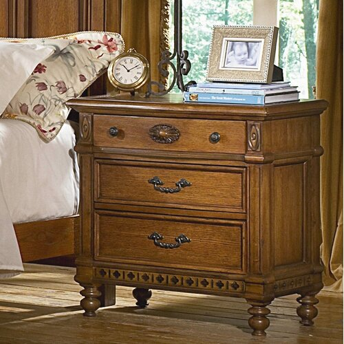 kathy ireland Home by Vaughan Southern Heritage 3 Drawer Nightstand