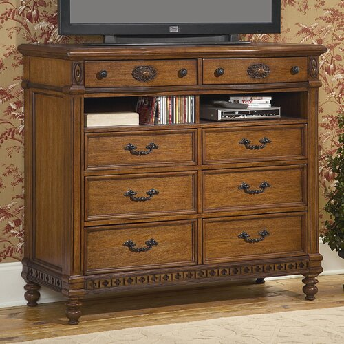 Southern Heritage 8 Drawer Media Dresser