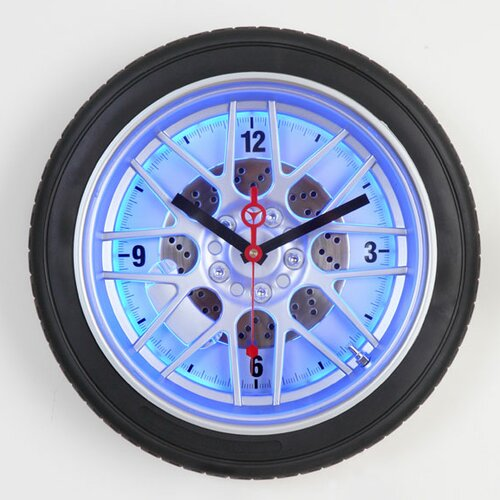 "Maples Clock 14"" Tire Wall Clock"