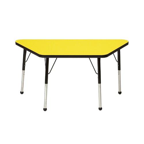 """Mahar 48"""" x 24"""" Trapezoidal Classroom Table"""