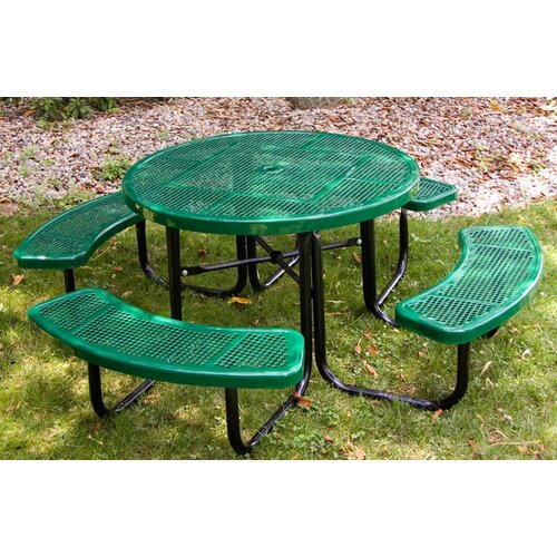 Ultra Play Round Picnic Table with Perforated Pattern