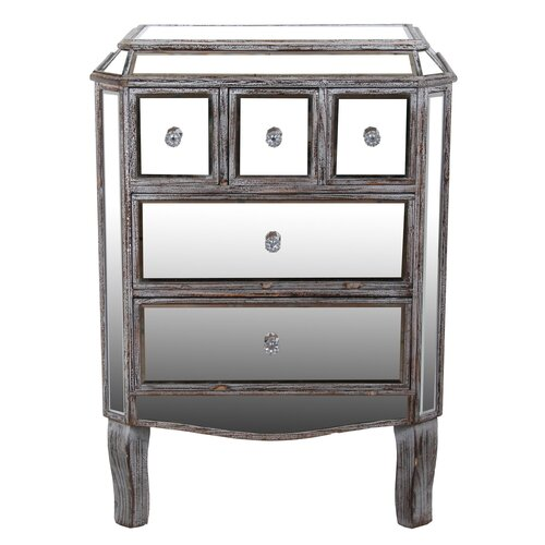 5 Drawer Mirrored Chest