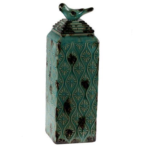 Ceramic Bird Canister Vase