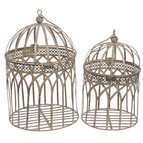 Privilege 2 Piece Decorative Bird Cage Set