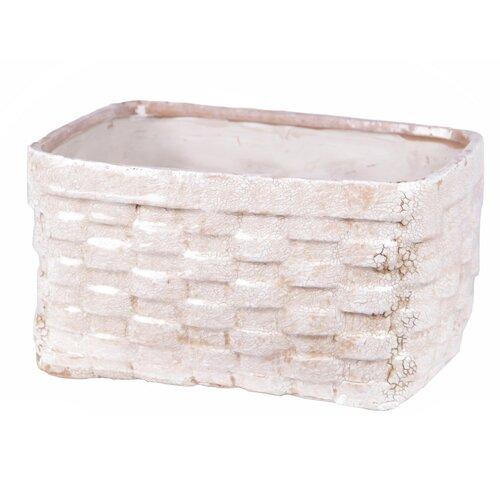 Wide Ceramic Weave Basket