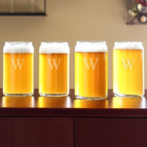Personalized Craft Beer Can Glass (Set of 4)