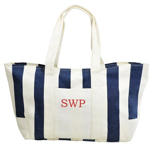 Cathys Concepts Striped Canvas Tote Bag