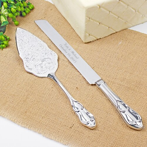 Cathys Concepts Embossed Cake Server Set