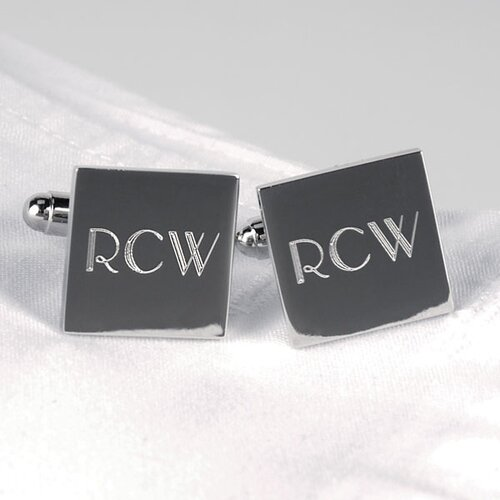 Square Cuff Links in Silver