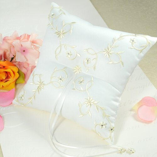 Sparkling Entwined Ring Pillow