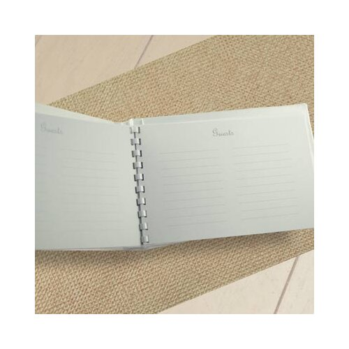 Cathys Concepts Wedding Tied with a Bow Guest Book and Pen Set