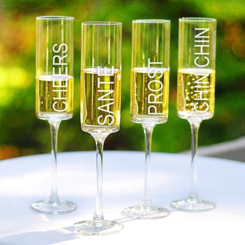 Cheers! Champagne Flute (Set of 4)