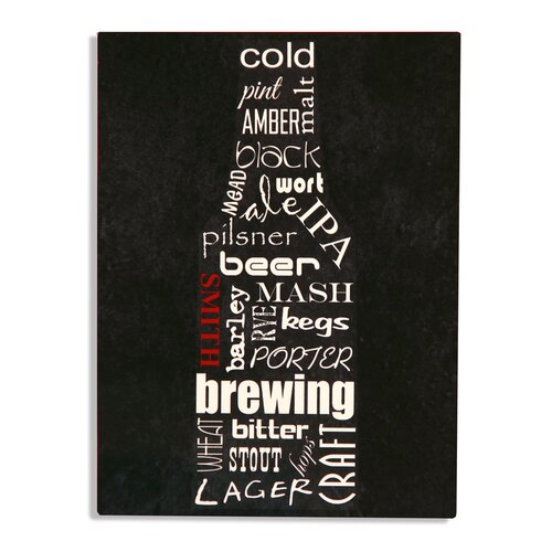 Beer Bottle Bar Sign Textual Art Plaque