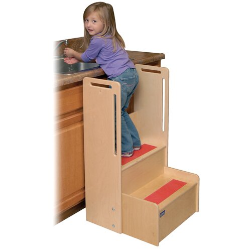 """Steffy Wood Products 2-Step """"I Can Reach"""" Handy Step Stool"""