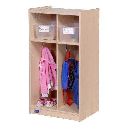 Steffy Wood Products Two-Section Toddler Locker Unit