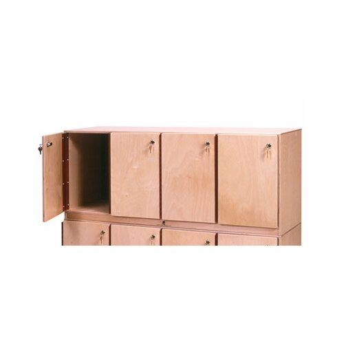 Steffy Wood Products 4-Section  Stackable Locker