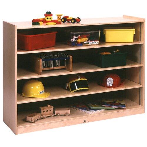 Steffy Wood Products Mobile Adjustable Shelf Storage Unit