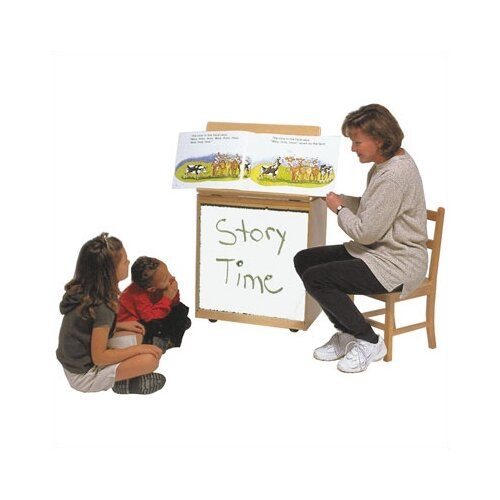 Steffy Wood Products Big Book Easel Storage Whiteboard