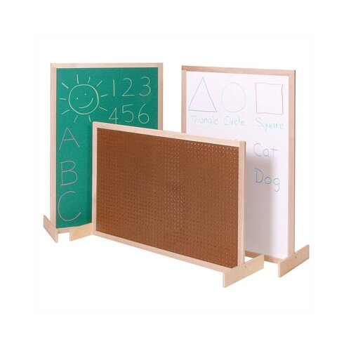 Steffy Wood Products Two-Position Room Divider 2.67' x 4' Bulletin Board