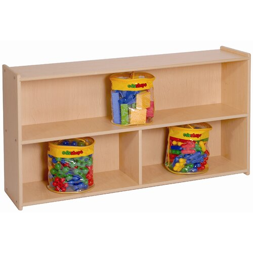 Steffy Wood Products Two Shelf Storage with Divider