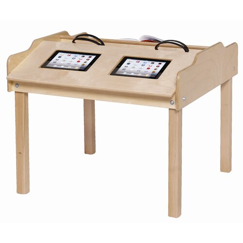 Steffy Wood Products Technology Table with Writing Desk