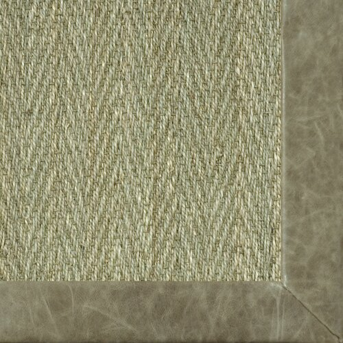 Fibreworks Botanical Blends Hacienda Herringbone Leather Pasture Bordered Rug