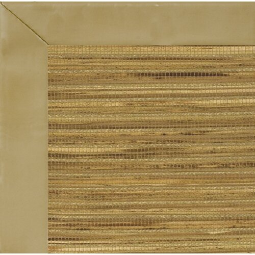 Fibreworks Cheena Dynasty Smooth Leather Husk Bordered Rug