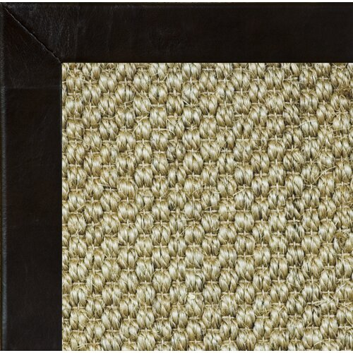 Fibreworks Siskiyou Textured Leather Bordered Rug