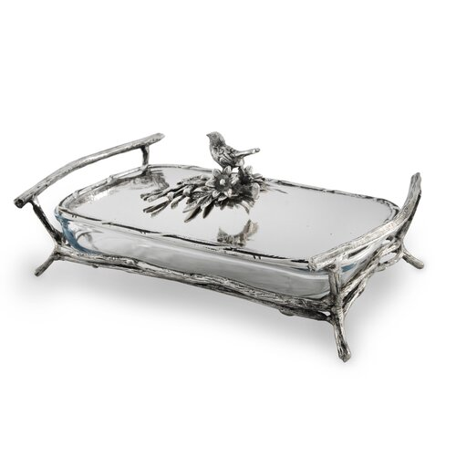 Star Home Bird and Branches Rectangular Baker/Server with Lid