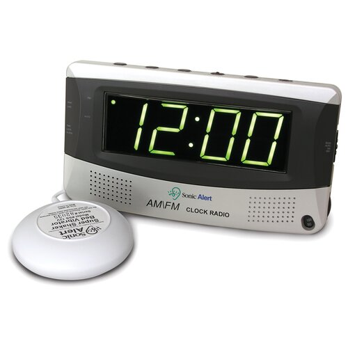 Sonic Alert Sonic Boom Vibrating Alarm Clock with AM/FM Radio
