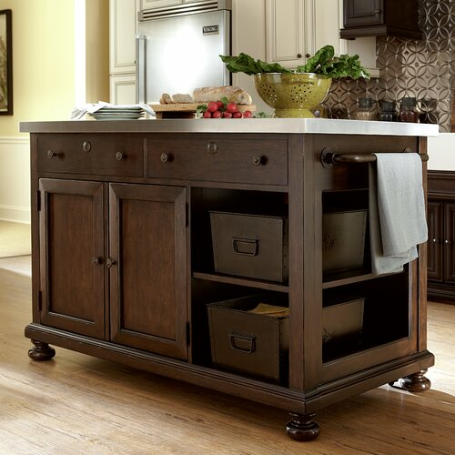 Crosley Kitchen Island With Stainless Steel Top Amp Reviews
