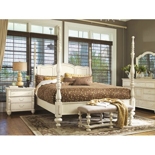 Paula deen home savannah four poster bed reviews wayfair for Paula deen bedroom furniture