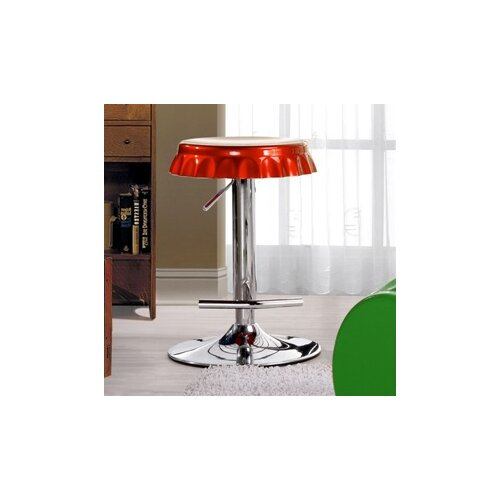 Soda Cap Adjustable Swivel Metal Bar Stool