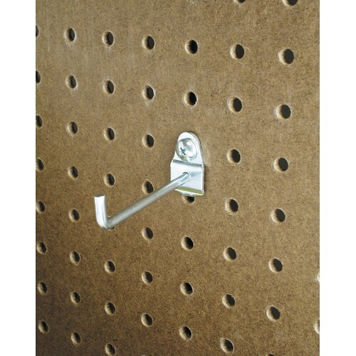 DuraHook 4 In. Single Rod 30 Degree Bend 3/16 In. Dia. Zinc Plated Steel Pegboard ...
